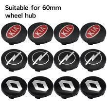4 pçs estilo do carro logotipo 56mm emblema roda centro hub tampa aro emblema decoração tampas adesivo decalque para lada acessórios de automóveis