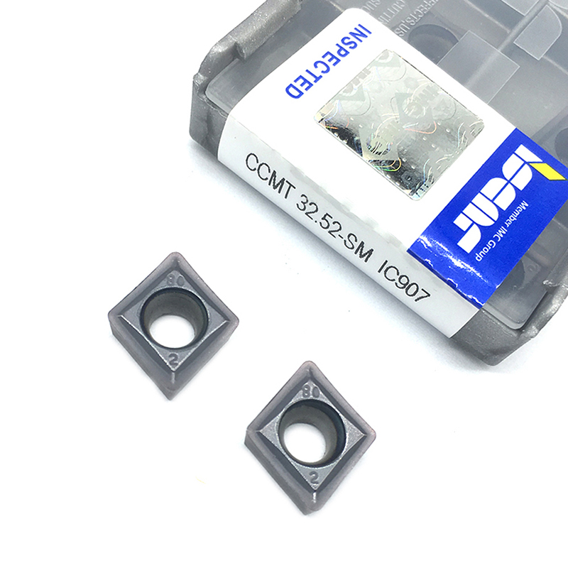 10PCS CCMT09T308 SM IC907 External Turning Tools CCMT 09T308 Carbide Insert Lathe Cutter Tool Tokarnyy Turning Insert