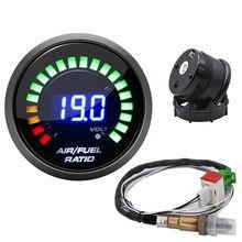 Faccia di fumo indicatore automatico da corsa 52MM rapporto carburante aria 20:1-10:1 sensore di ossigeno O2 a banda stretta indicatore Auto per Auto 12V 0258006028