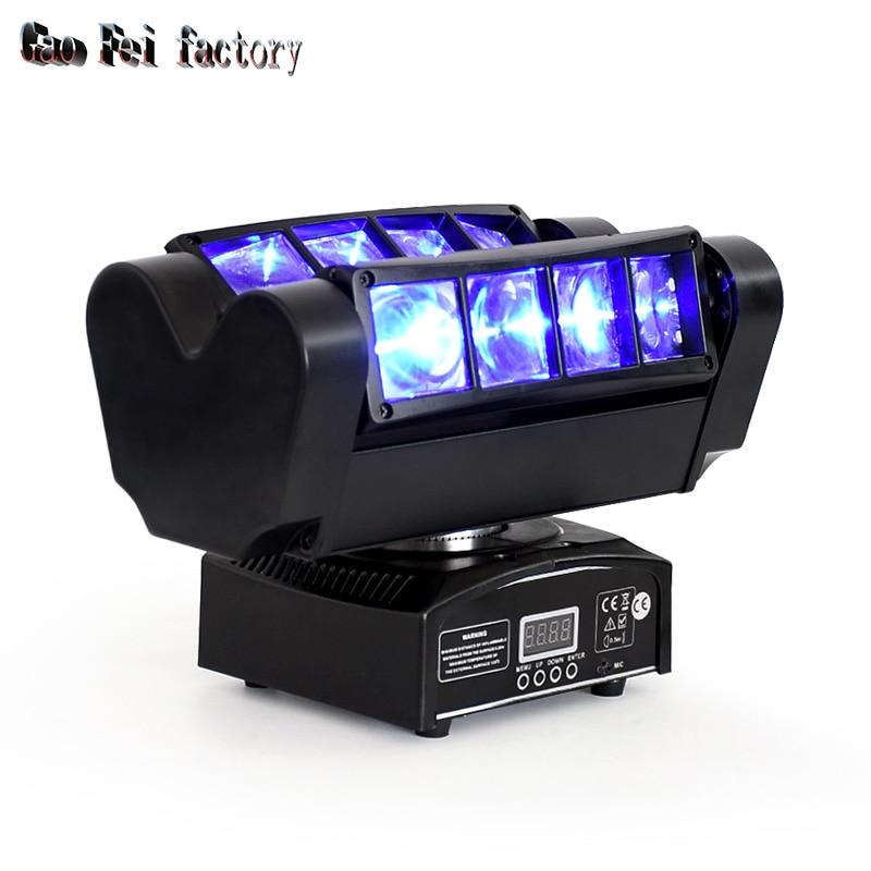 Stage Light Dj Disco Light LED 8x10W RGBW 4IN1 LED Spider Beam Moving Head Light