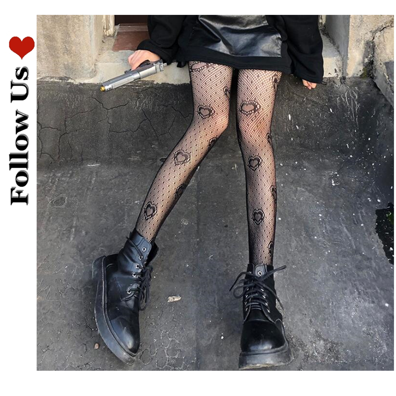 Stockings Women Trousers Pantyhose Fishnet Lace Rose-Flower Bottoming Gothic Tights Japanese