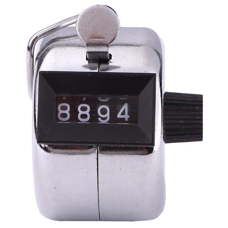 4 Digit Small Counting Manual Hand Tally Number Counter Mechanical Click Clicker