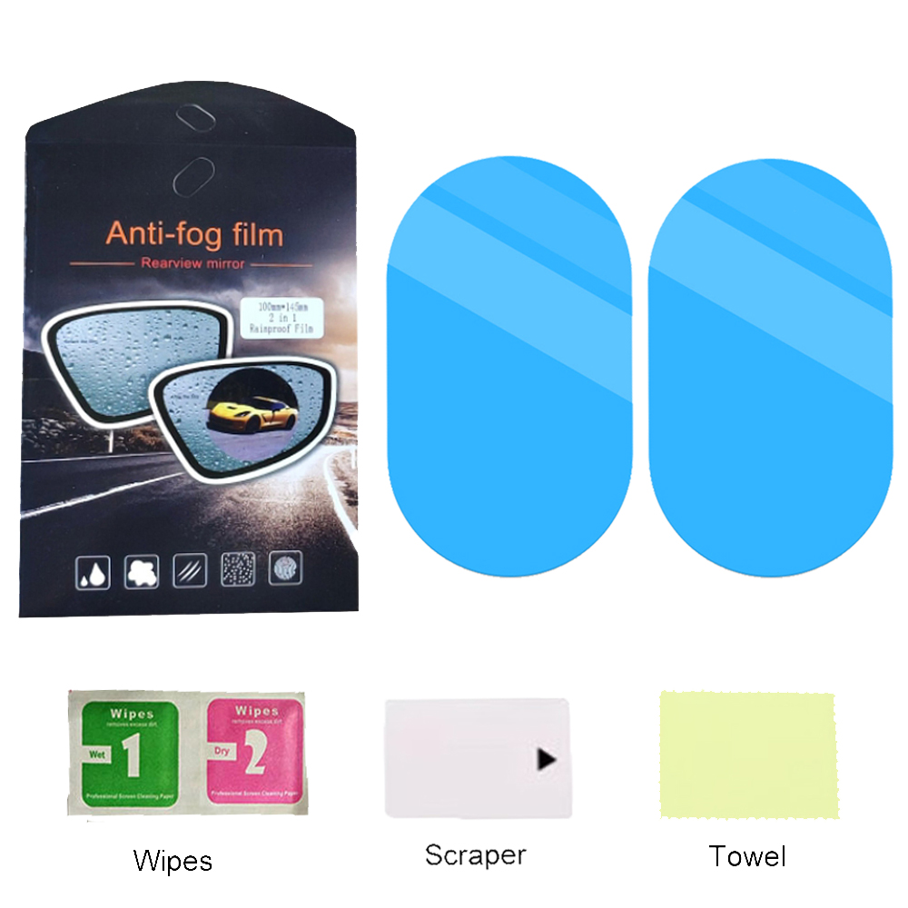 2 Pcs Car Rearview Mirror Protective Film Car Window Anti Water Anti Fog Rainproof Film Protector Accessories