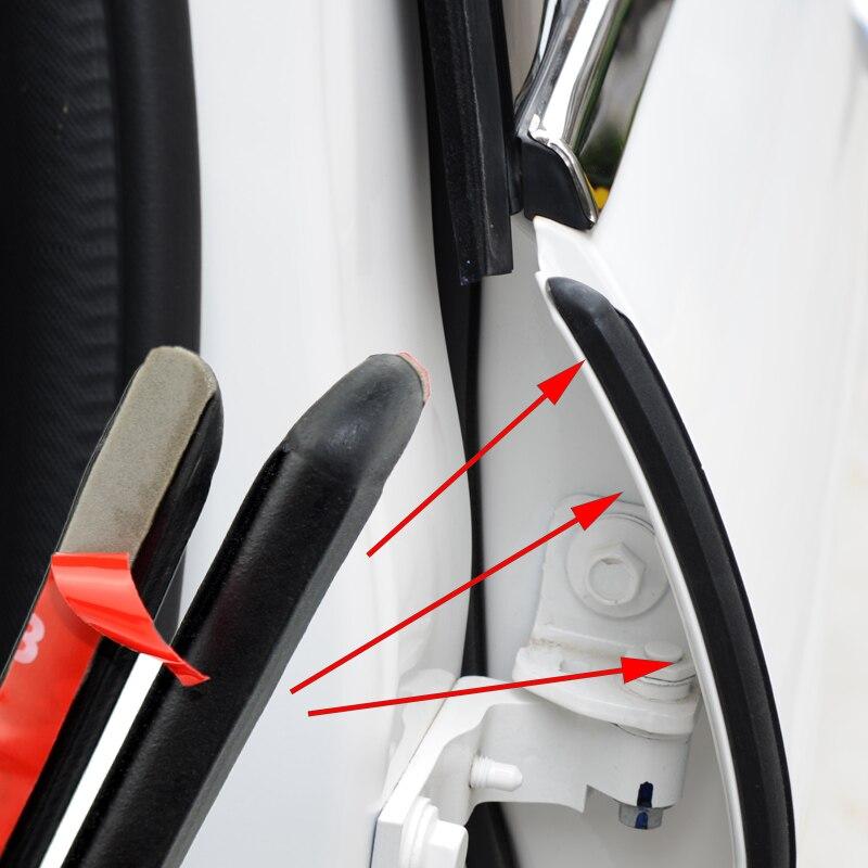 авто уплотнитель дверей 2 шт./лот автомобиль звукоизоляция резиновые уплотнительные прокладки для B столб Шум ветрозащитный двери уплотнит...