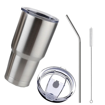 30 Oz Tumbler Cup With Lid Straw Made Of Stainless Steel Material For Drinking