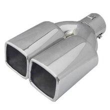 63 мм 2,5 дюйма Впускной из нержавеющей стали Автомобильный задний хвост двойной глушитель наконечник трубы