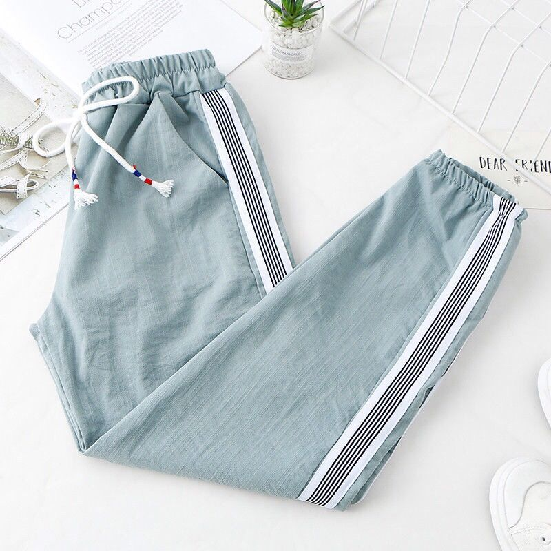 Sweatpants for women baggy fashion korean style summer high waist loose sweat joggers Women's casual harem pants capri woman