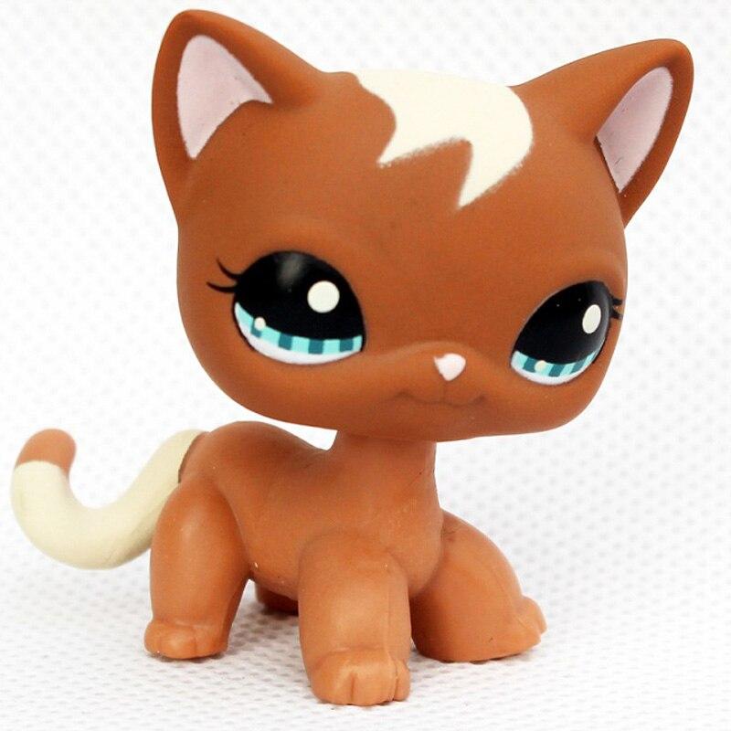 Лпс стоячки кошки Игрушки для кошек lps, редкие подставки, маленькие короткие волосы, котенок, розовый#2291, серый#5, черный#994,, коллекция фигурок для питомцев - Цвет: 1170