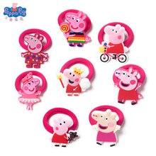 Новая Свинка Пеппа дети высокоэластичные бесшовные волосы кольцо милые девушки мультфильм аксессуары для волос и головы веревка подарок на день рождения
