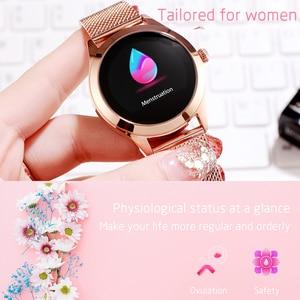 Image 3 - KW10 KW20スマート腕時計女性IP68防水腕時計心拍数モニターbluetoothスポーツフィットネスブレスレットアンドロイドios用