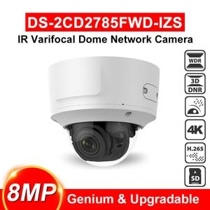 Hikvision оригинальная DS-2CD2785FWD-IZS 4K камера POE купольная камера безопасности 8MP наружная внутренняя моторизованная vari-focal линза водонепроницаемая