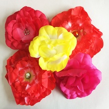 1 Pcs/lot Girls Fashion Embroider Large Flower Elastic Headbands Children Princess Knitting Hairband Head Accessories