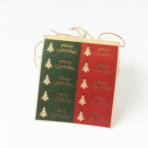 1000 pcs lote vermelho e verde design da arvore de natal atmosfera feriado cozimento embalagem