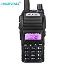 BaoFeng UV 82 Dual Band 136 174mhz (VHF) 400 520mhz (UHF) 5W שתי בדרך רדיו כף יד ווקי טוקי