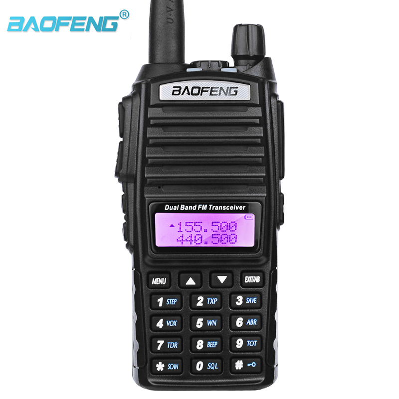 Walkie Talkie Baofeng UV 82 Dual Band UHF VHF Portable Radio Scanner For Baofeng Uv-82 Two Way CB Ham Radio Transceiver Dual PTT