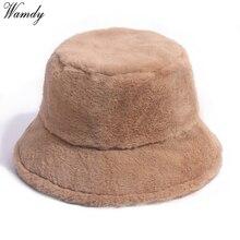 Bucket-Hat Fishing-Cap Faux-Fur Panama Leopard Warm Rabbit Black Outdoor Soft Winter