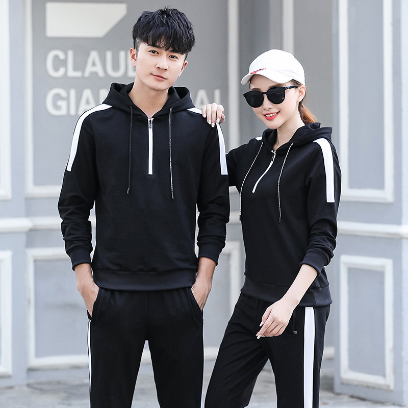2019 Spring New Style MEN'S Hoodie Trousers Set Youth Casual Running Sports Set School Uniform