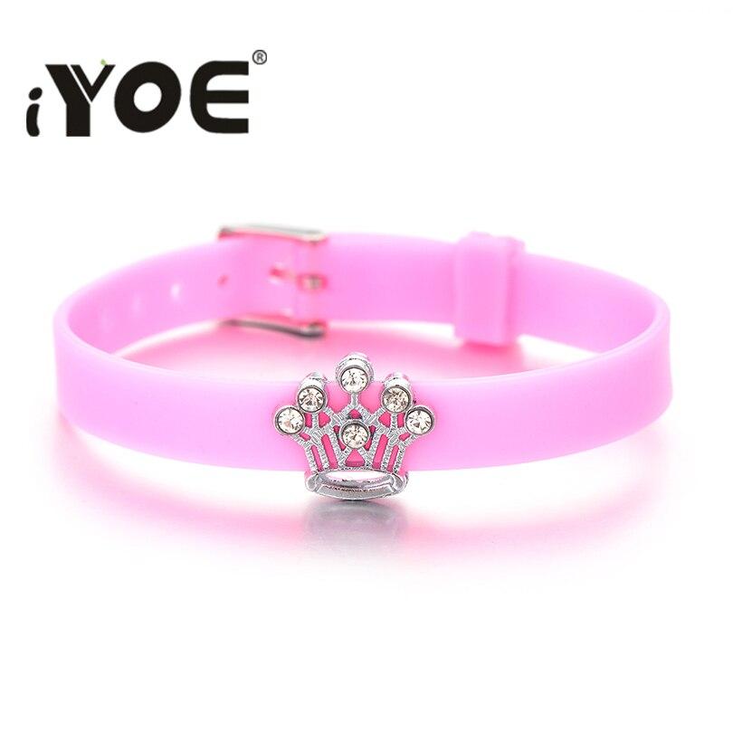 Браслеты IYOE с подвесками в форме сердца, цветка, короны, звезды для детей, для девочек и мальчиков, многоцветные браслеты, красный, на удачу, д...
