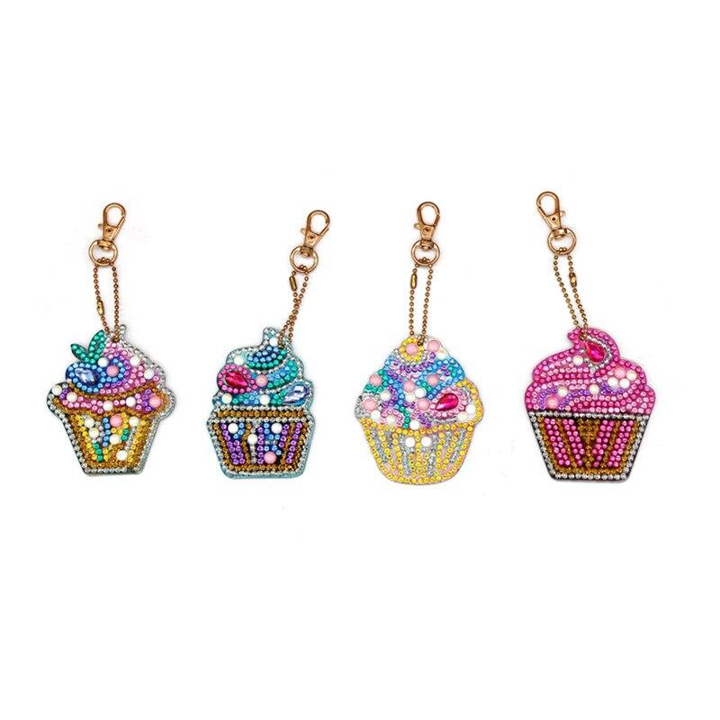Кекс Алмазный брелок 5Д алмазной живописи наборы для рисования с кристалл алмаза сумка кулон головоломки игрушки дети подарок