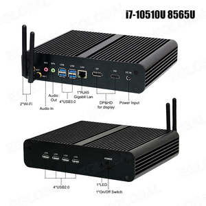 Image 3 - Процессор Eglobal Fanless мини компьютер Intel i7 10510U i7 8565U i5 8265U 2 * DDR4 Msata + M.2 PCIE, мини ПК Windows 10 HTPC Nuc VGA DP HDMI