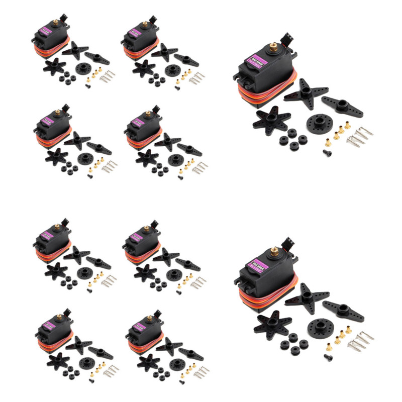10PCS MG996R Metal Gears Digital  Servo Motor For High Speed & Torque RC CAR 1/8 Helicopter Boat Airplane Arduino UNO Diy