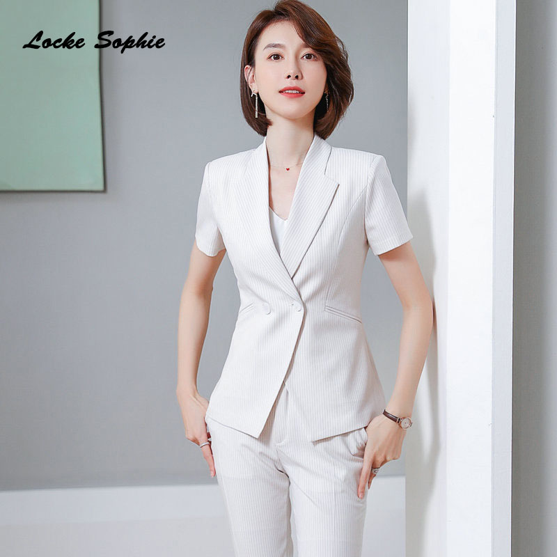 1pcs Women's Plus Size Blazers Coats 2020 Summer Cotton Blend Short Sleeve Small Suits Jackets Ladies Skinny Blazers Suits Coats