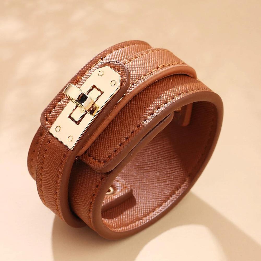 Kirykle-Bracelet en cuir, 6 couleurs, breloque multicouche pour femmes, Punk décontracté, accessoires de bijoux de fête, cadeau d'anniversaire de noël 2