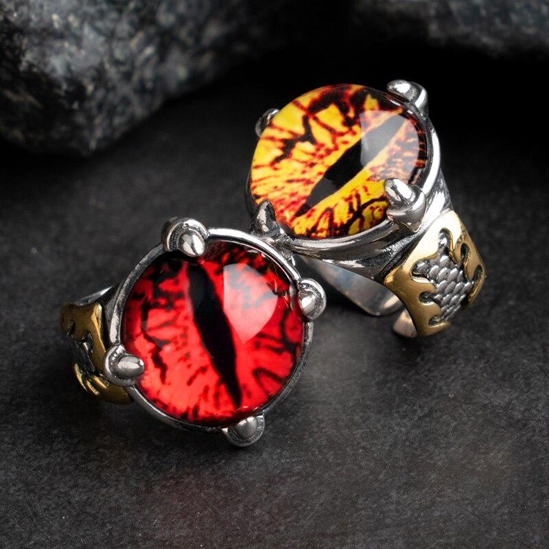 Die Teufel augen sterling Silber ringe für mann Dominierenden mode schmuck mygrillz