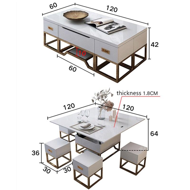 electrique multifonction pliable de salon de table basse relevable et abaissable minimaliste rectangle mesas centro table a manger