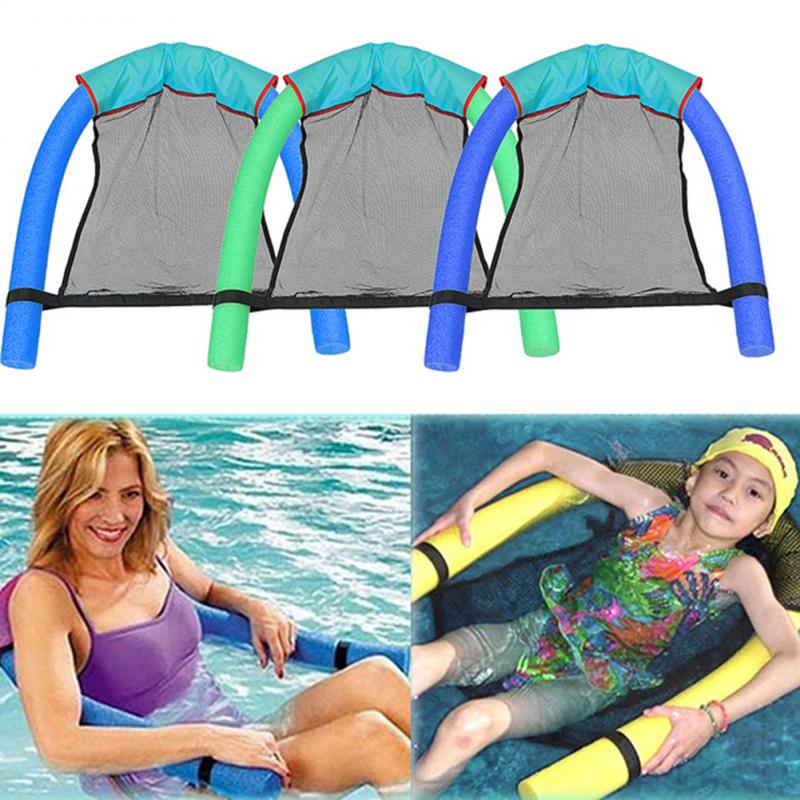 1pcs Polyester Floating Pool Noodle Sling Mesh Chair Net For Swimming Pool Party Kids Bed Seat Water Relaxation Water Float Bed