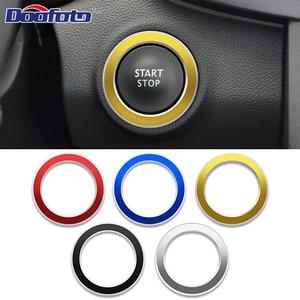 Image 1 - Araba Styling başlangıç motoru düğme kapağı halka durumda çıkartmalar Renault Koleos Kadjar Megane 2 Sandero oto iç aksesuarları