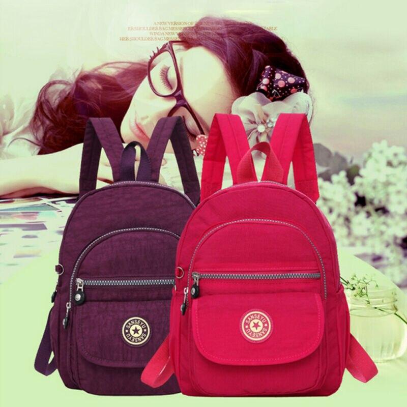 2019 Mini Women Backpack Purse Anti-theft Waterproof Nylon Small Backpack Shoulder Rucksack Bag Travel Storage Bag
