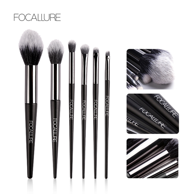 FOCALLURE 6 pcs Makeup Brush Set Professional High Quality Soft Cosmetics Blush Eyeshadow Brush for Makeup 1