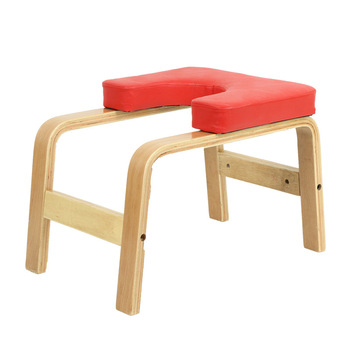 Hot Birch Wooden Handstand Chair Yoga Inverted Stool Gym Equipment Headstand Indoor Home Training Sports Exercise Fitness Bench