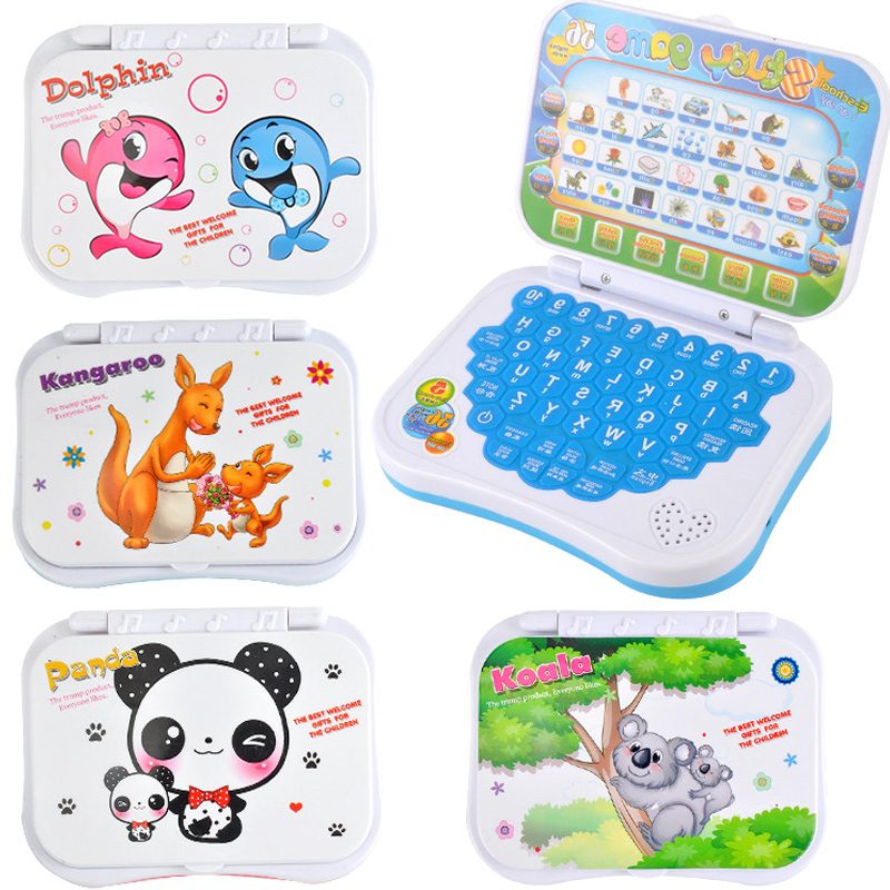 Laptop Chinese English Learning Computer Toy for Boy Baby Girl Children Kids Random Color image