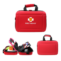 Professional Waterproof Premium Nylon First Aid Kit Cabinet Large Medical Empty Bag Emergency Box with EVA Separator