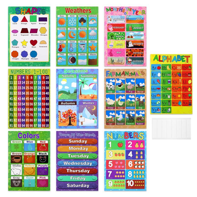 vívido ferramentas de ensino suprimentos gráficos para crianças pré-escolares