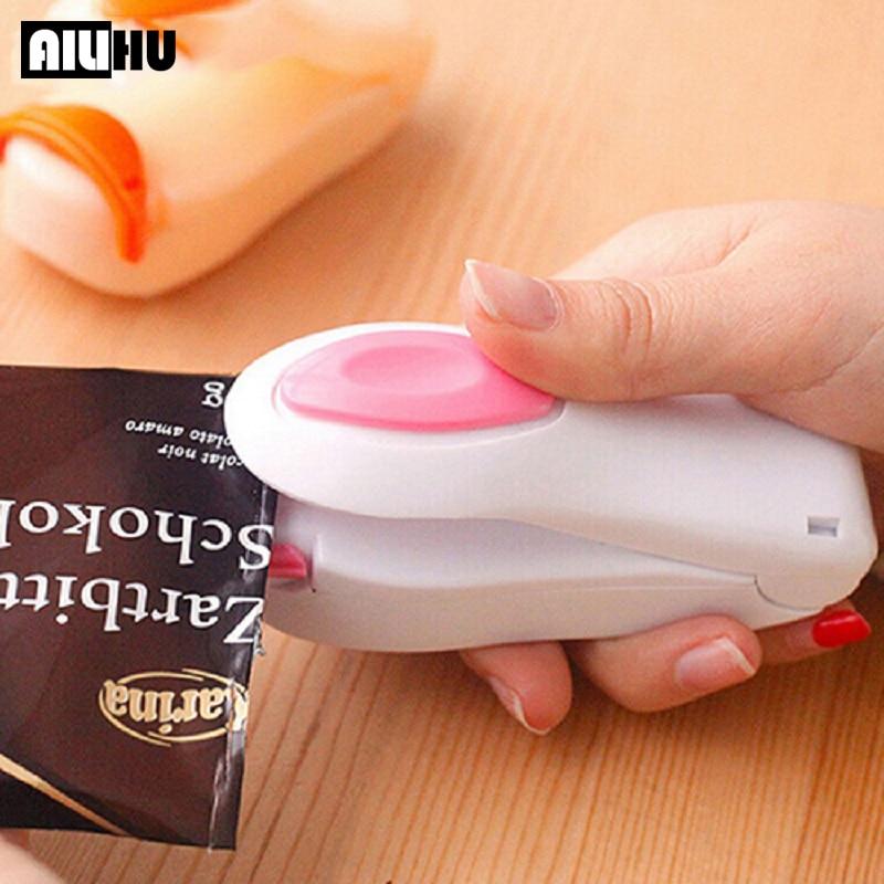 Kitchen Accessories Tools Mini Portable Food Clip Heat Sealing Machine Sealer Home Snack Bag Sealer Kitchen Utensils Gadget Item|Garnishes| - AliExpress