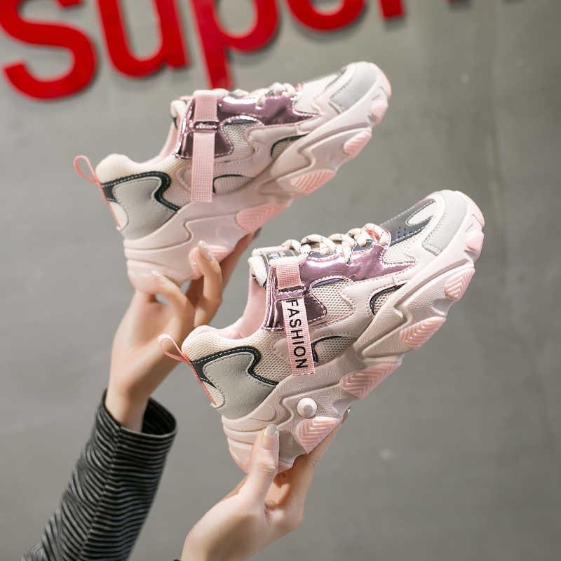 Phụ Nữ Giày Thời Trang Nhà Thiết Kế Chun Lưu Hóa Giày Hồng Thường Ngày Tuổi Bố Giày Người Phụ Nữ Quần Vợt Nữ Thương Hiệu Nền Tảng Giày Sneaker
