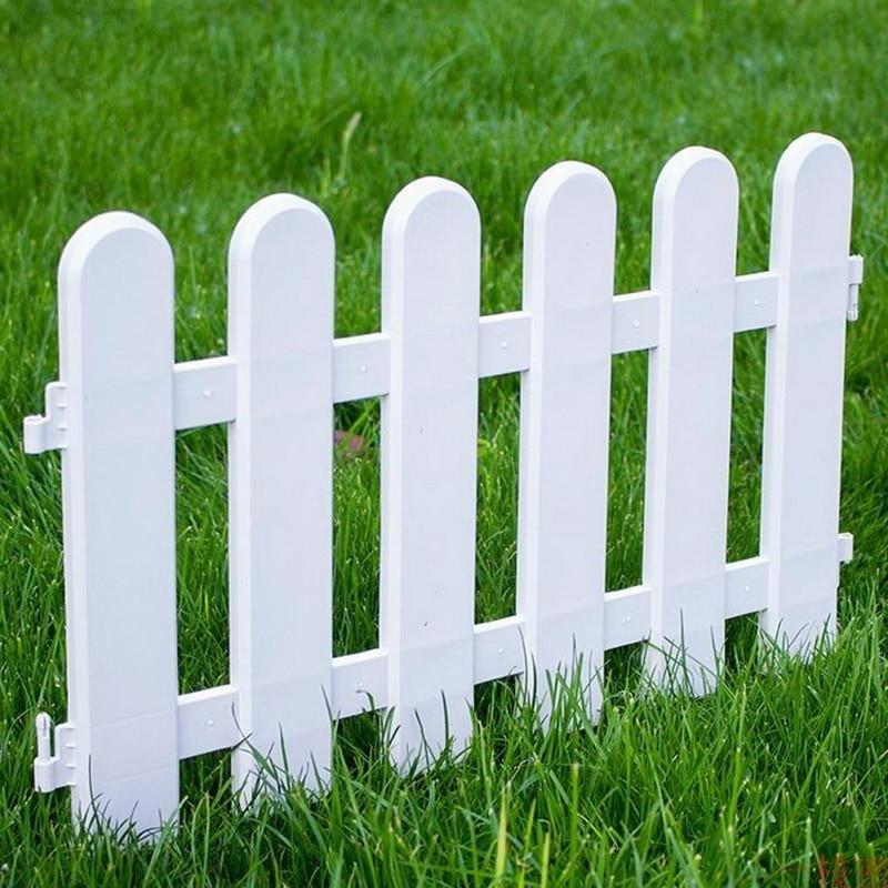 5pcs Picket Round Fence Garden Rail Fence Indoor Outdoor Lawn Patio DIY Fairy Garden Miniature Small Wood Fencing Gates Decor