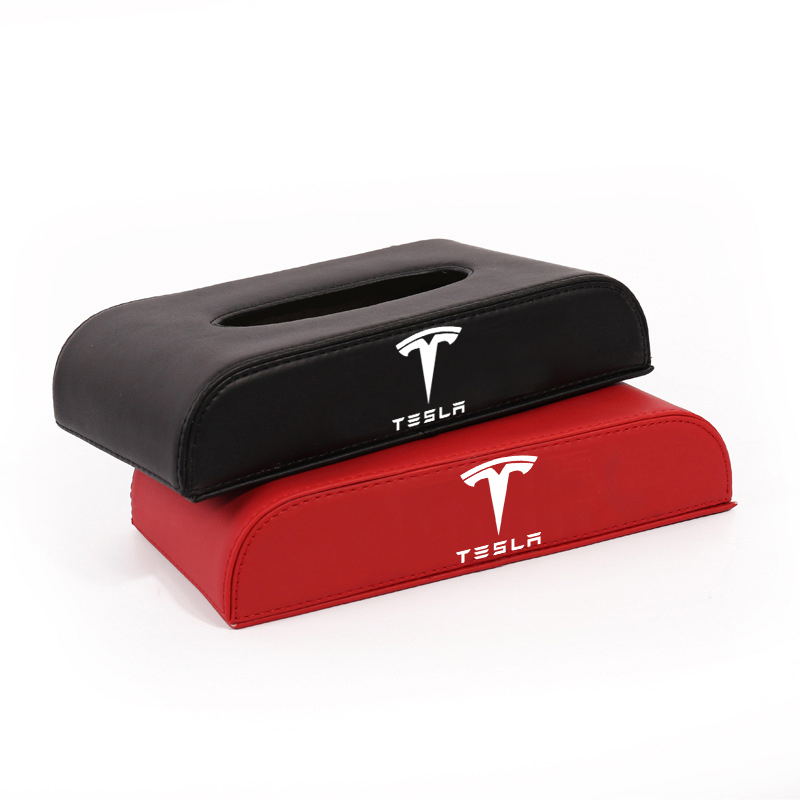 1 Pcs Model3 Car Style PU Quality Tissue Box For Tesla Model 3 /X/Y/S 2021 Accessories Auto For Model Three New