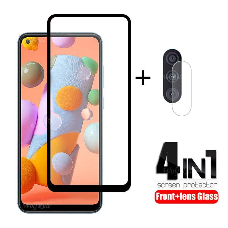 4 в 1 для Samsung Galaxy A11 стекло для Samsung A11 закаленное стекло для Samsung A51 A71 A31 A10 A30 A50 S M21 M31 A11 стекло объектива Защитные стёкла и плёнки      АлиЭкспресс