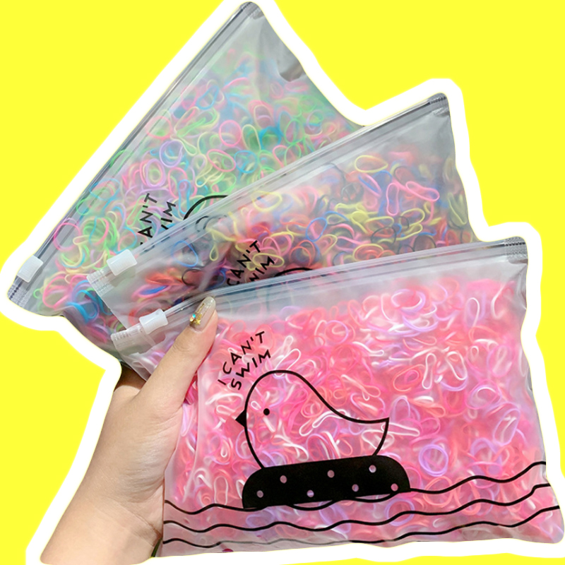 1000PC/Rainbow Girls Small Disposable Elastic Rubber Bands Gum Hair Bands For Kid Children Ponytail Holder Girls Accessories