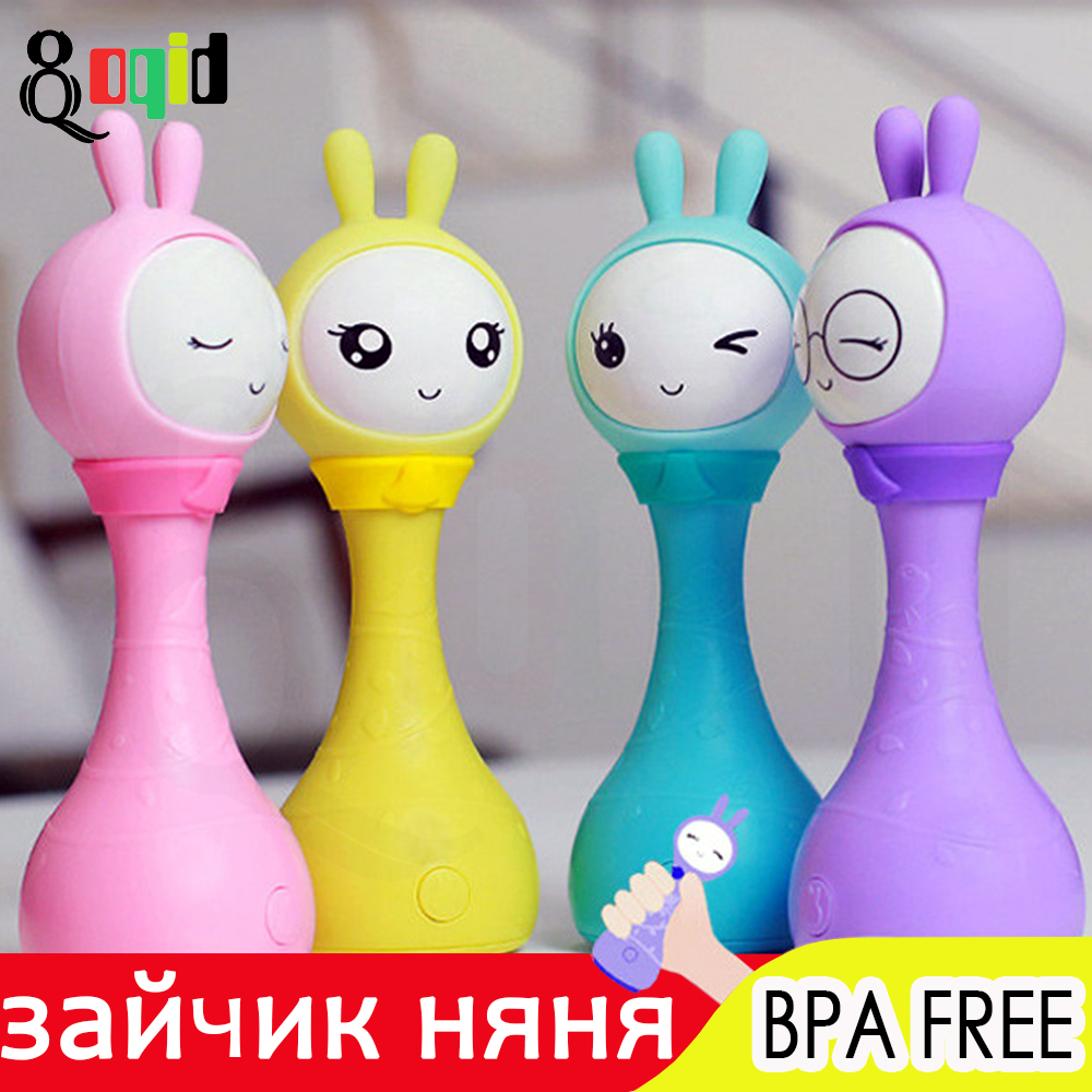 Bunny Nanny Baby Rattle Most Popular Toy 0-12 Month Under One Year Fire Rabbit Unusual Thing Gift For Children Mobile Chime Ring