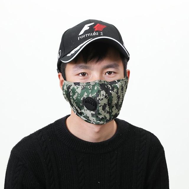 Camouflage Mascarilla PM2.5 Face Mask Respirator Mask Filter face shield Masque maseczki ochronne 5