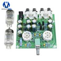 Kit de amplificador de preamplificador de fiebre para auriculares, módulo de búfer de auriculares, potenciómetro para estéreo, válvula, AC 12V, 6J2