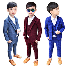 Boys Suit kids Wedding Tuxedo Formal School Blazer Children