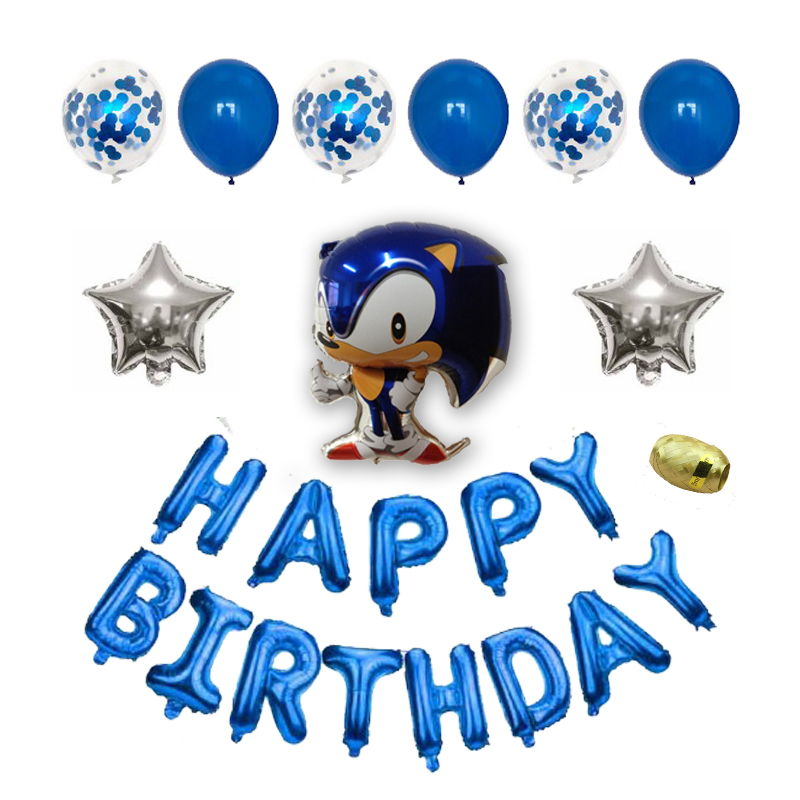 New Sonic Balloons Hedgehog Balloon Birthday Party Decorations Happy Birthday Balloon Party Supplies Toys For Kids Globos Ballons Accessories Aliexpress
