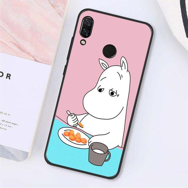 Yinuoda karikatür sevimli moomin hippo telefon kılıfı Xiaomi Redmi için not 7 8T Redmi 5 artı 6A Note8 4X note8Pro