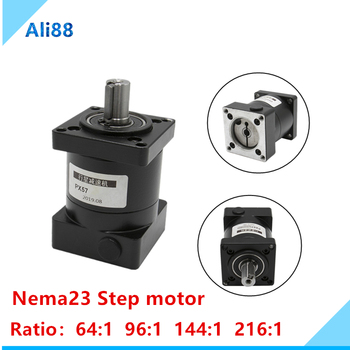 1pcs planetary reducer PX NEMA23 Ratio 64:1 /96:1/144:1/216:1 can be equipped with stepper motor/ servo motor